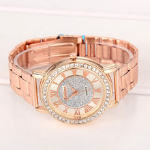Load image into Gallery viewer, Rhinestone Quartz Watch with Large Roman Numerals - Online Fashion Store -Shop Alluring