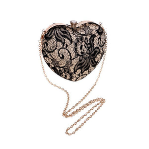 Heart-Shaped Handbag Evening Dress Bag Designer Inspired - Online Fashion Store -Shop Alluring
