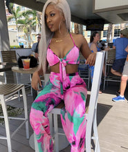 Load image into Gallery viewer, Bright Print Halter Strapless Long Pant Bodycon Set-Sets-Shop Alluring