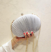 Load image into Gallery viewer, Glitter Shell Handbag Clutch Pleated Evening Bag - Online Fashion Store -Shop Alluring