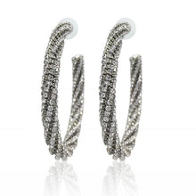 Load image into Gallery viewer, Luxury Fashion Circle Crystal Big Earring Rhinestone Hoop Earrings-Earrings-Shop Alluring