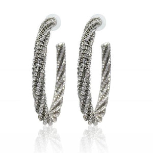 Luxury Fashion Circle Crystal Big Earring Rhinestone Hoop Earrings-Earrings-Shop Alluring