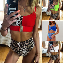 Load image into Gallery viewer, Splice Buckle Swimsuit One Piece High Cut Push Up Swimwear - Online Fashion Store -Shop Alluring