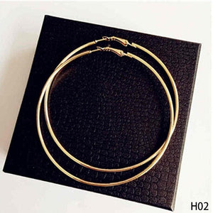 Super Big Circles Hoop Earrings Gold Silver Color-Earrings-Shop Alluring