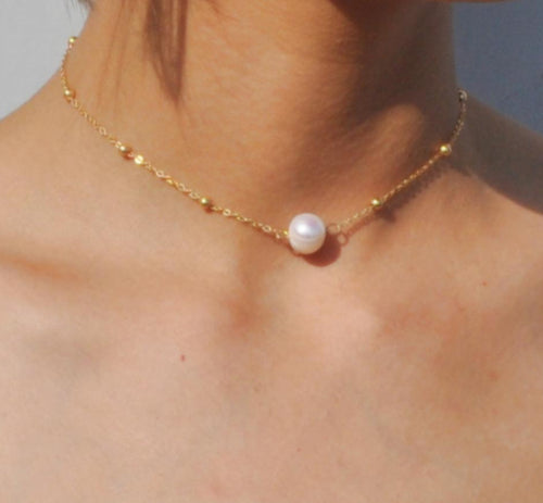 Freshwater pearl choker necklace - Online Fashion Store -Shop Alluring