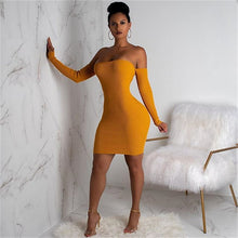 Load image into Gallery viewer, Knitted Long Sleeve Mini Bandage Dress - Online Fashion Store -Shop Alluring