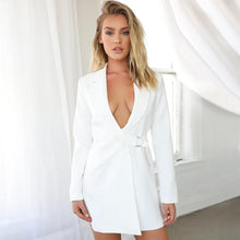 Load image into Gallery viewer, Long Blazer with Metal Buckle Sexy Jacket - Online Fashion Store -Shop Alluring