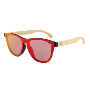 Wooden Mirror Lenses Bamboo Sunglasses - Online Fashion Store -Shop Alluring