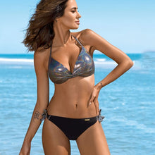 Load image into Gallery viewer, Snake Skin Glitter Splicing Backless Swimwear - Online Fashion Store -Shop Alluring