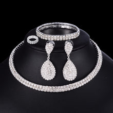 Load image into Gallery viewer, Jewelry Set Necklace Bracelet Ring Earrings - Online Fashion Store -Shop Alluring