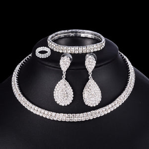 Jewelry Set Necklace Bracelet Ring Earrings - Online Fashion Store -Shop Alluring