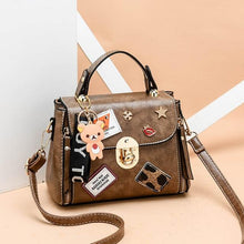 Load image into Gallery viewer, High Quality Youth Girls Black Vegan Leather Handbag-Bags-Shop Alluring