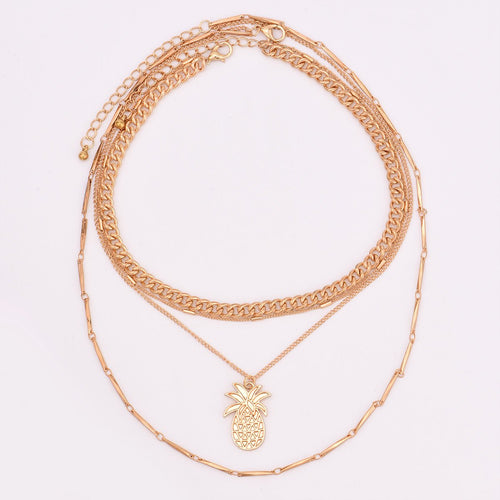 Multi Layer Pineapple Necklace Set - Online Fashion Store -Shop Alluring