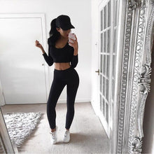 Load image into Gallery viewer, Long Sleeve Running Sportswear Tank Top Leggings - Online Fashion Store -Shop Alluring