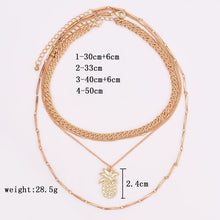 Load image into Gallery viewer, Multi Layer Pineapple Necklace Set - Online Fashion Store -Shop Alluring