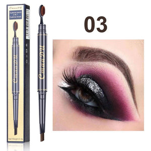 Double Eyebrow Pen with Brush Head Eyebrow Pencil Waterproof Long Lasting - Online Fashion Store -Shop Alluring