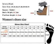 Load image into Gallery viewer, Roman Cotton Fabric Roman Wedges High Heels-Shoes-Shop Alluring