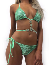 Load image into Gallery viewer, Sexy Bling Crystal Bikini Set Swimwear - Online Fashion Store -Shop Alluring