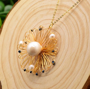 Natural Fresh Water Baroque Pearl Handmade Pendant-Necklaces-Shop Alluring