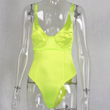 Load image into Gallery viewer, Sexy Neon Bodysuit Spaghetti Strap Fashion Body Top - Online Fashion Store -Shop Alluring