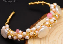 Load image into Gallery viewer, Natural Fresh Water Baroque Pearl Bangle & Bracelet-Bracelets-Shop Alluring