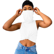Load image into Gallery viewer, Sexy Stacked Turtle Neck Top with Mask-Tops-Shop Alluring