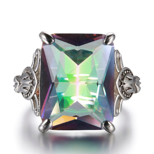 Huge Mystic Rainbow Topaz Ring Fine Jewelry-Rings-Shop Alluring