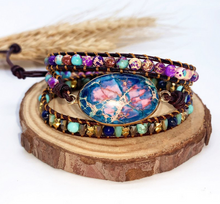 Load image into Gallery viewer, Imperial Stone Multi-layer Woven Leather Bracelet