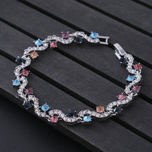 Load image into Gallery viewer, Blue Crystal Bracelet Rhinestone Charm Bangles - Online Fashion Store -Shop Alluring