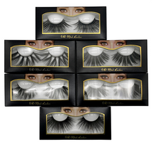 Load image into Gallery viewer, 25mm Mink Fals Eyelashes 6D three-dimensional