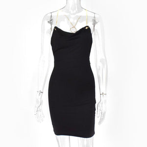 Spaghetti Straps Backless Dress Slim Fit Short Dress - Online Fashion Store -Shop Alluring