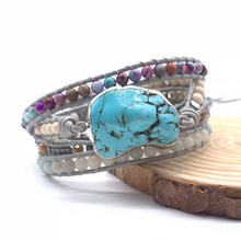 Load image into Gallery viewer, Hand-woven Turquoise Bracelet