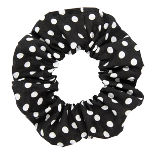 Black with White Polka Dots