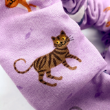 Cats on Lilac Purple