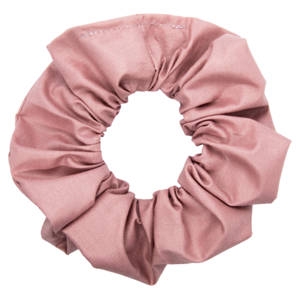 dusty rose scrunchie