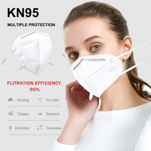 Load image into Gallery viewer, KN95 Masks 60-Pack with Free Portable UV-C Light Disinfection Special Combo