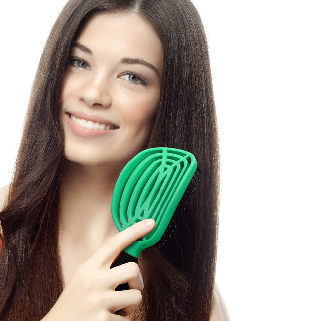 Patented Venting hair brush DoubleC - Green