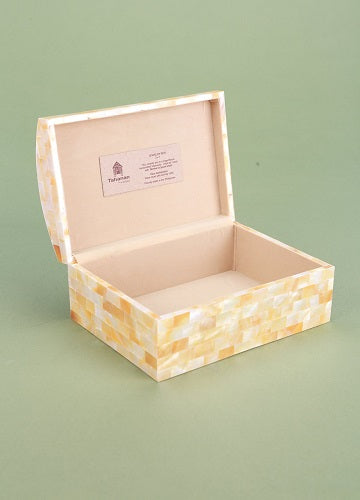 Mother of Pearl Jewelry Box 5x7