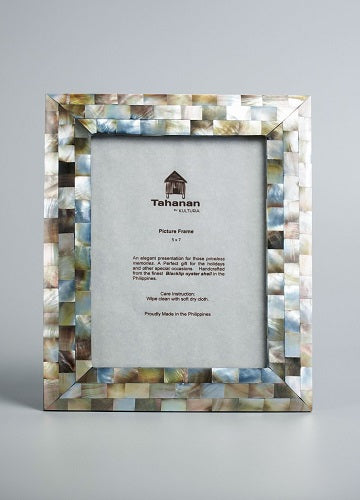 Blacklip Mother of Pearl Picture Frame 5x7