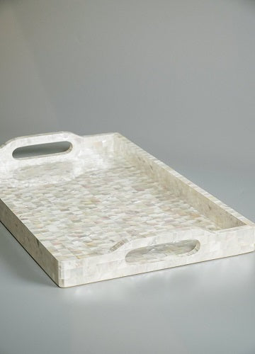 White Mother of Pearl Tray