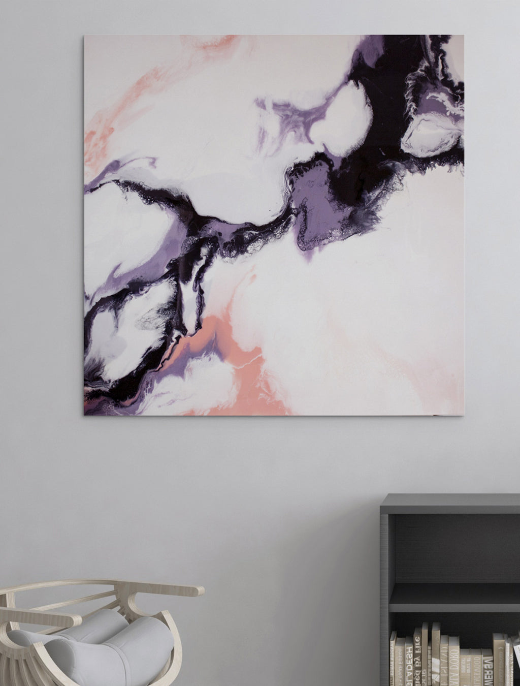Above The Clouds - Abstract Painting on Wall - By Paige Ring