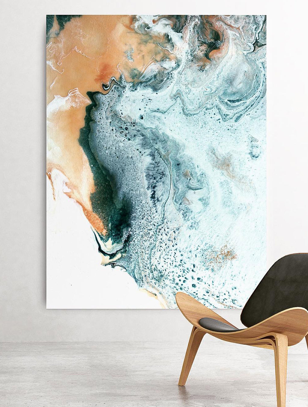 Geode Trip on wall - Abstract Painting by Paige Ring