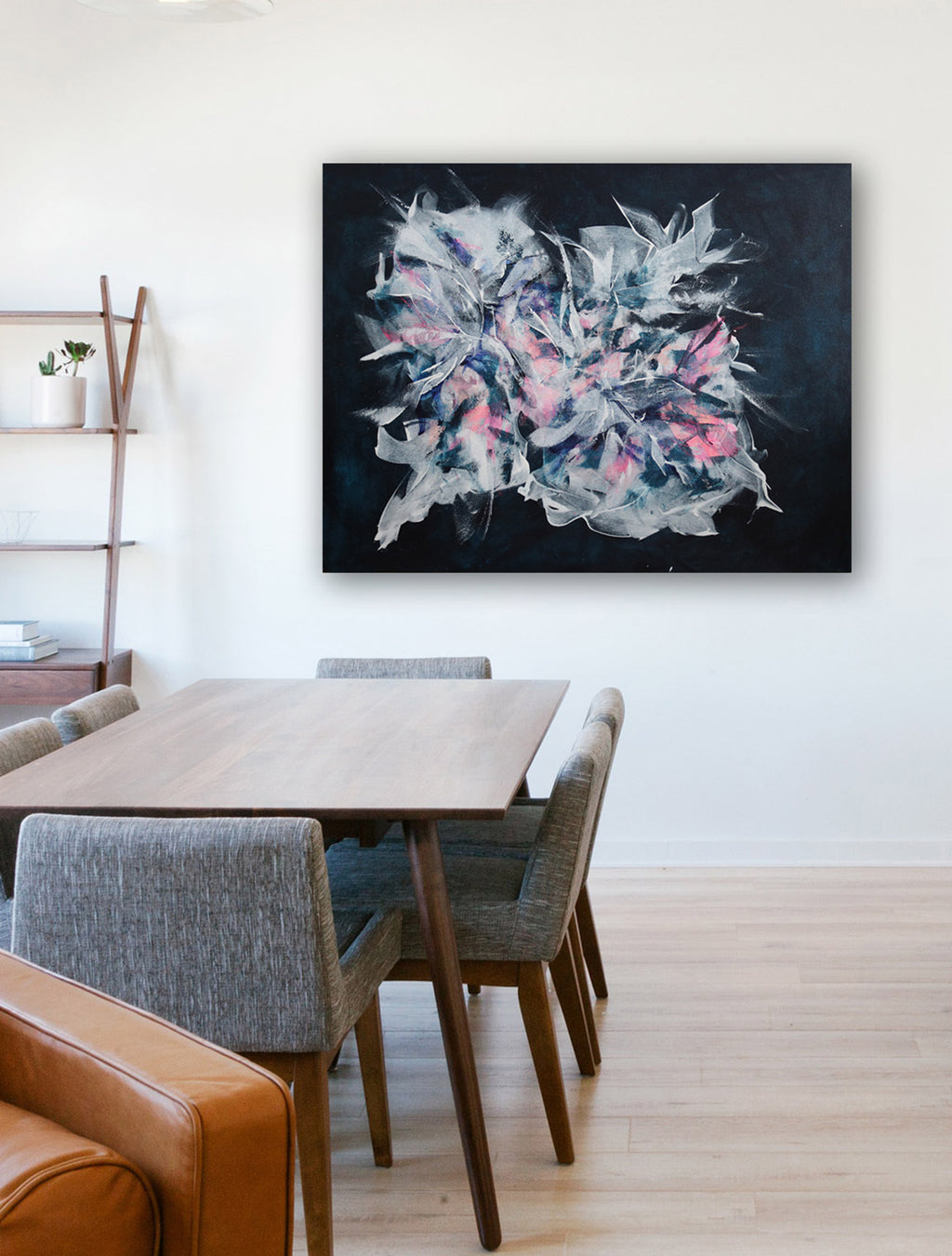 Iced Abstract Painting on wall - by Paige Ring