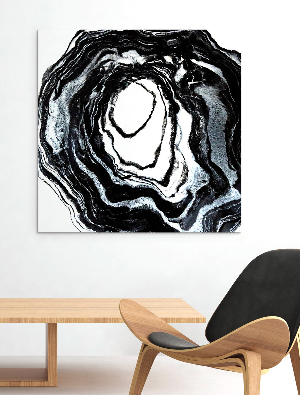 Intergalactic on Wall - Abstract Painting By Paige Ring