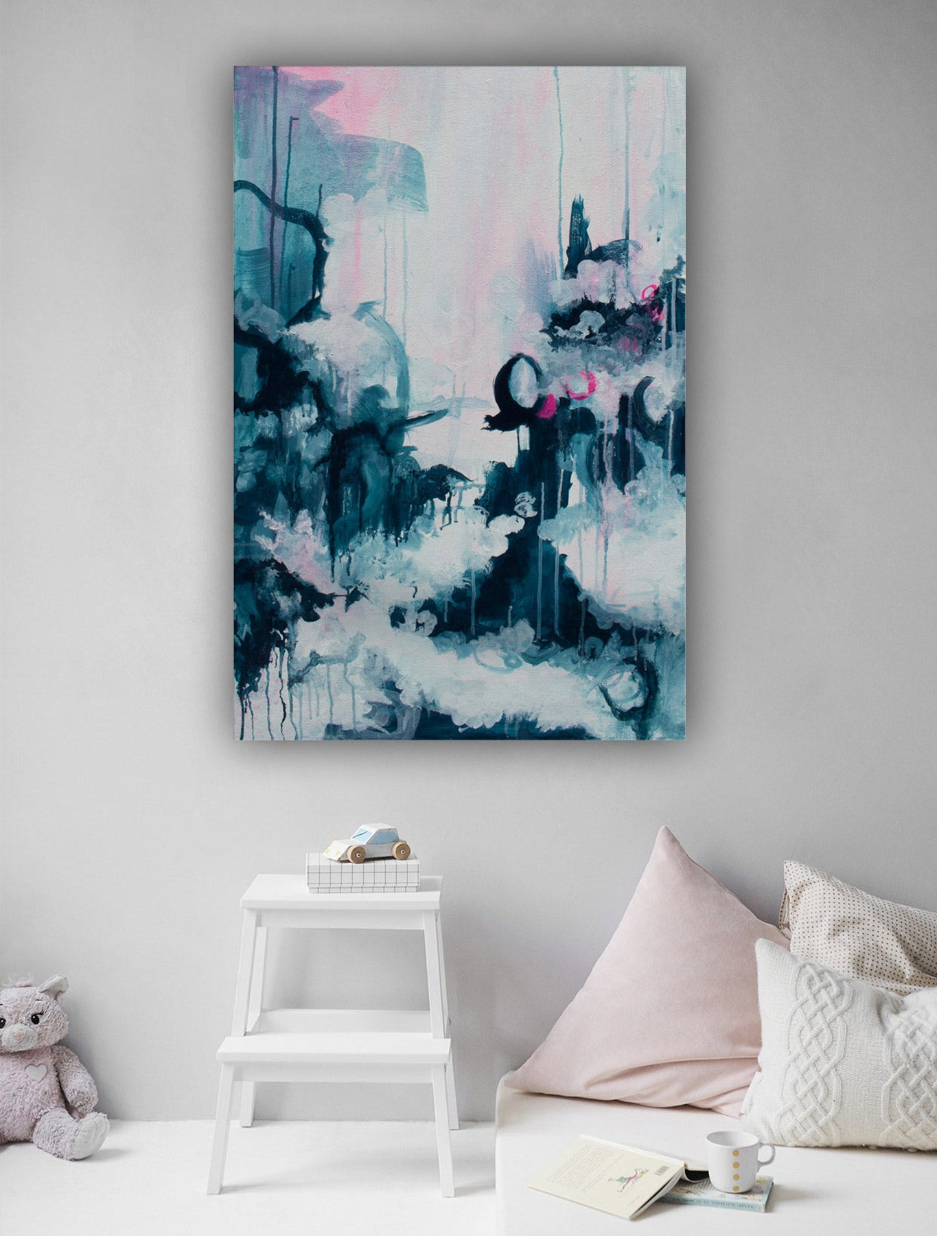 Magic Window Abstract Painting on wall - by Paige Ring