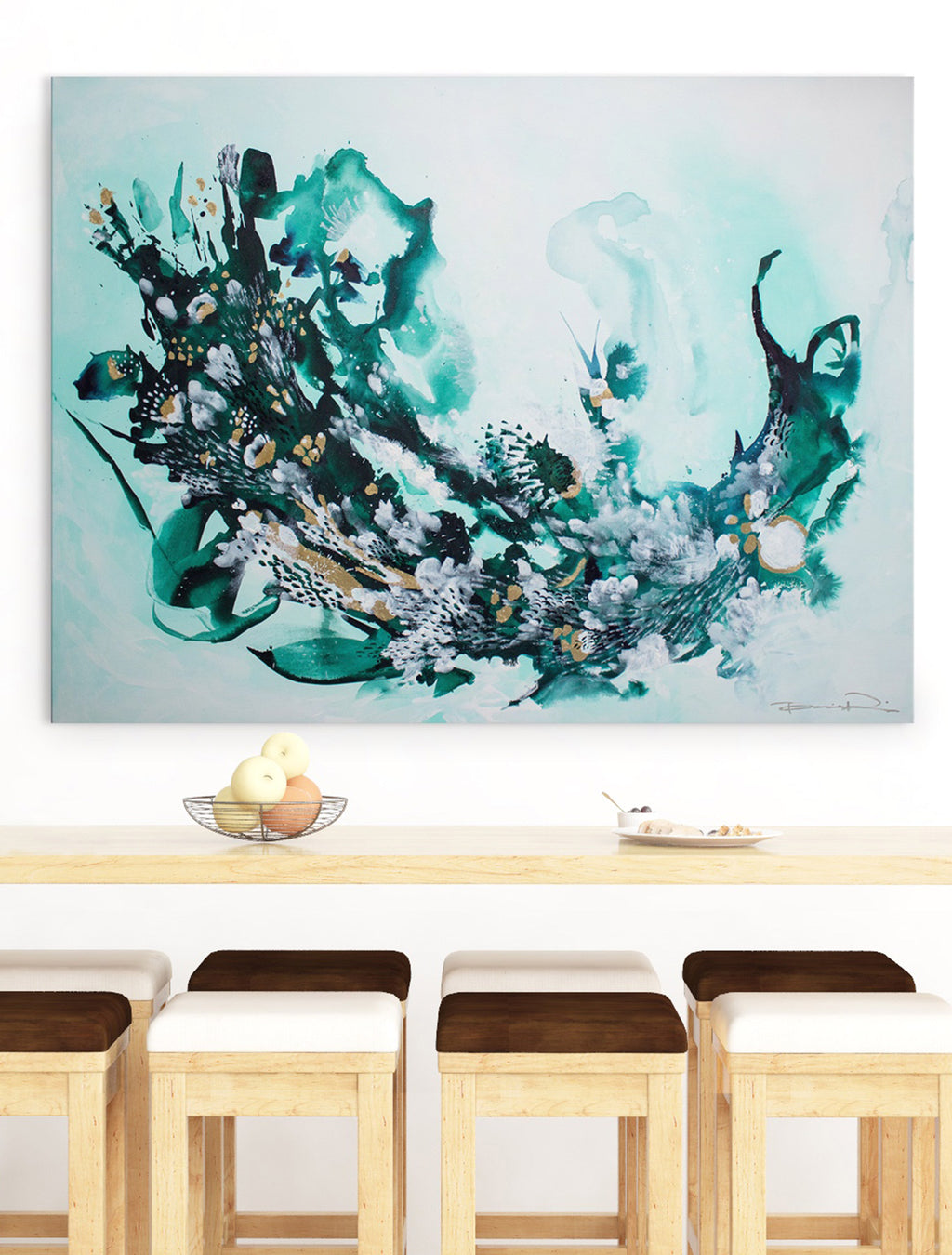 Untouched Coral Reef on Wall - Abstract Painting By Paige Ring