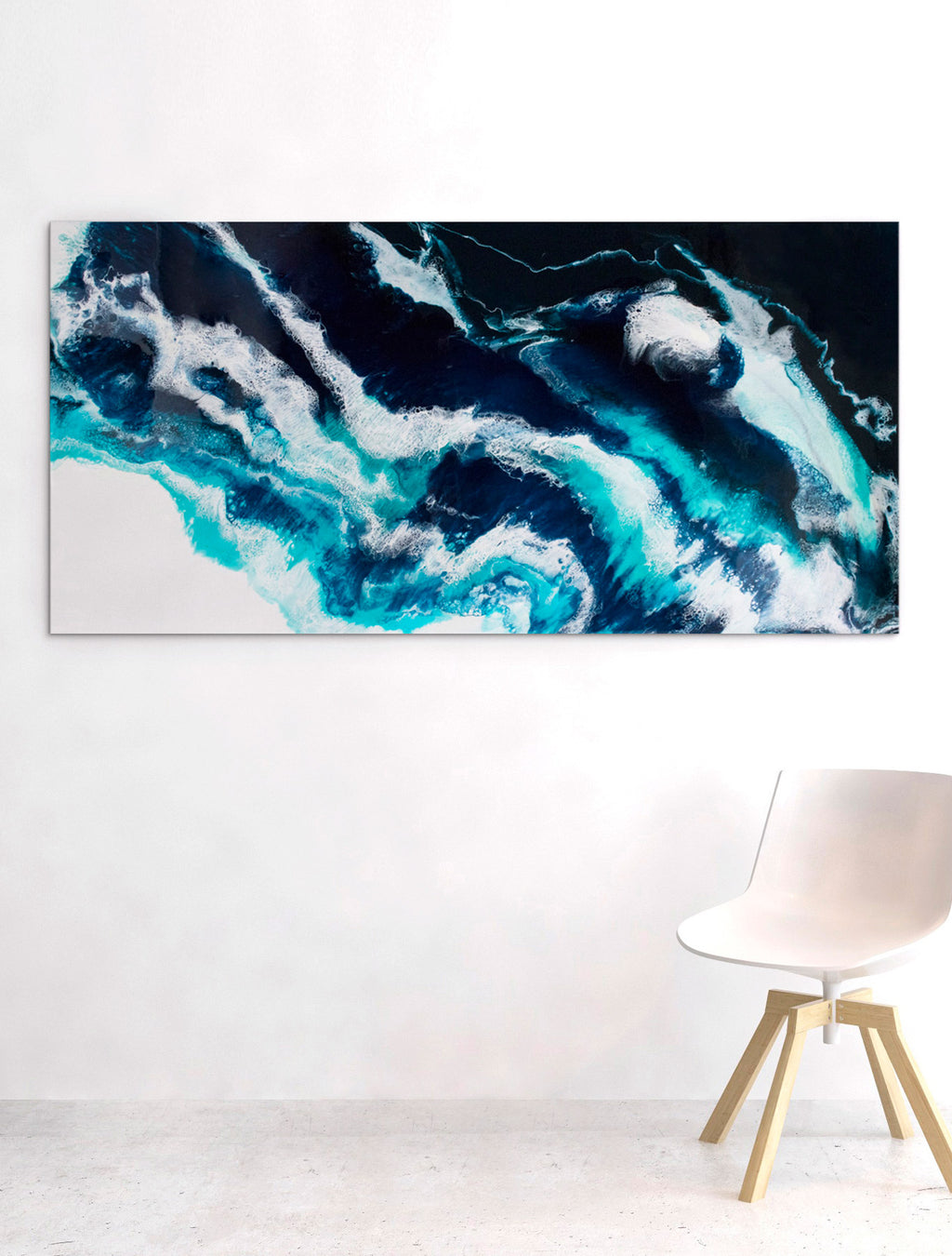 Crashing on Wall - Abstract Resin Artwork by Paige Ring