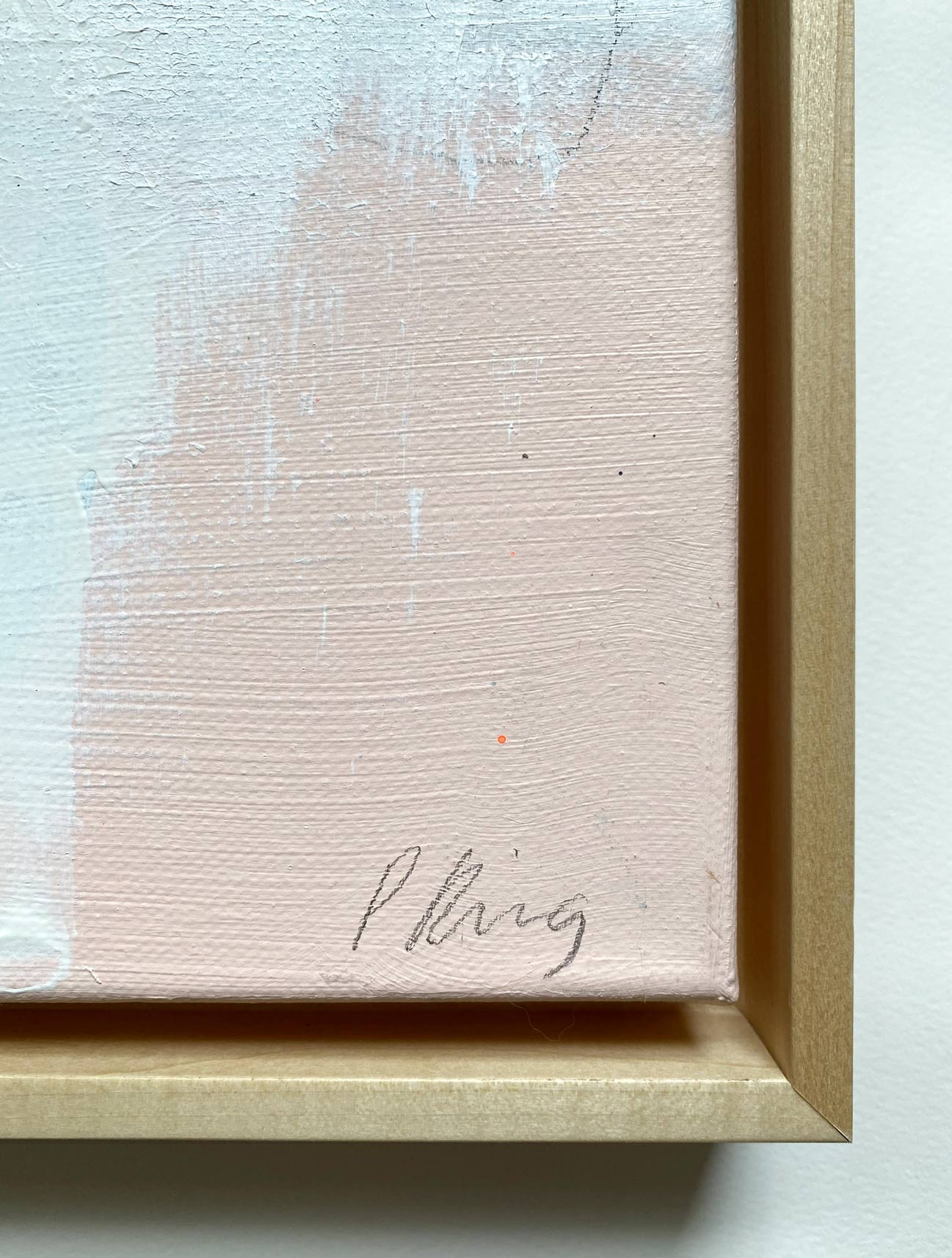 Dirty Matchbooks And Roadmaps - Framed Signature Closeup - Abstract Painting - by Paige Ring-16x20