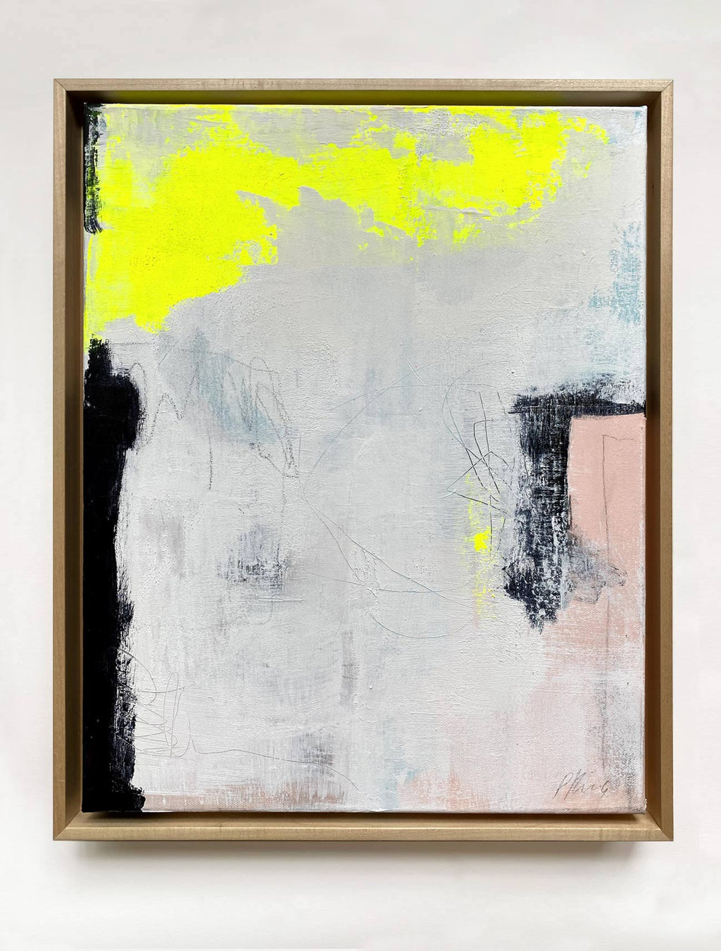 Light Through My Foggy Window - Framed Abstract Painting By Paige Ring