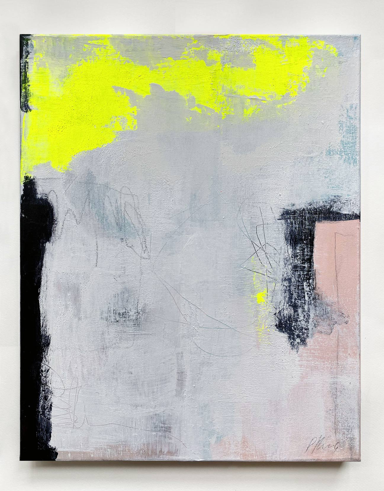 Light Through My Foggy Window - Unframed Abstract Painting By Paige Ring